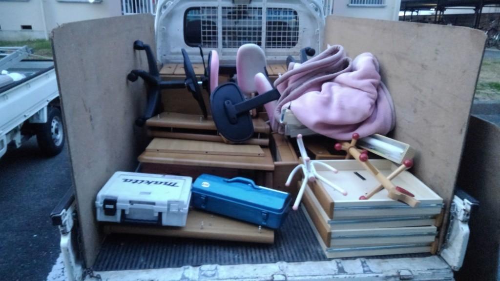 【橿原市東坊城町】学習机の出張不用品回収・処分ご依頼 お客様の声