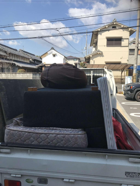 【奈良市】ソファーの回収☆希望日時の早急な対応にとても喜んでいただきました!