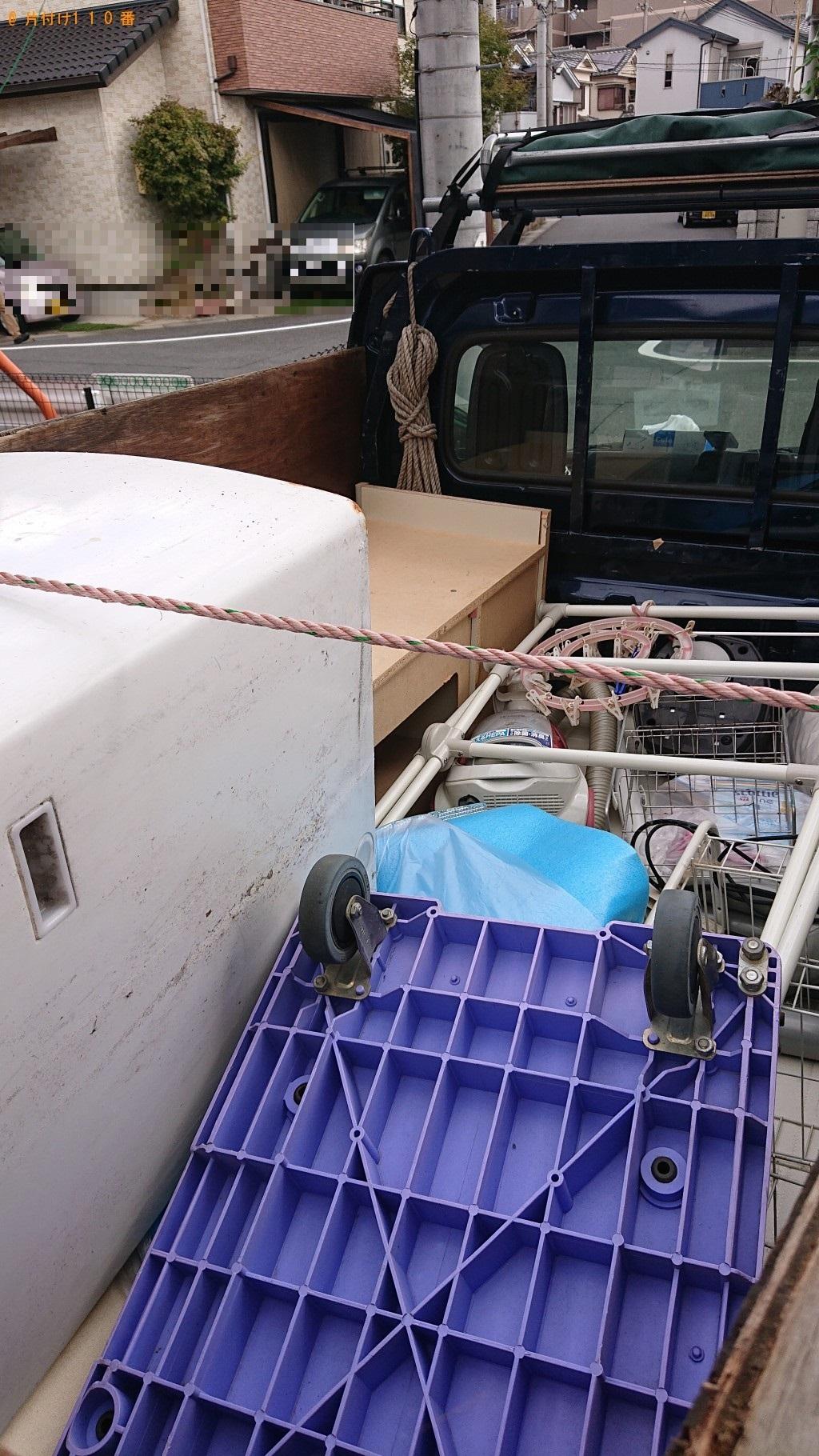 【奈良市】セミダブルベッド、マットレス、テレビ台等の回収・処分 お客様の声
