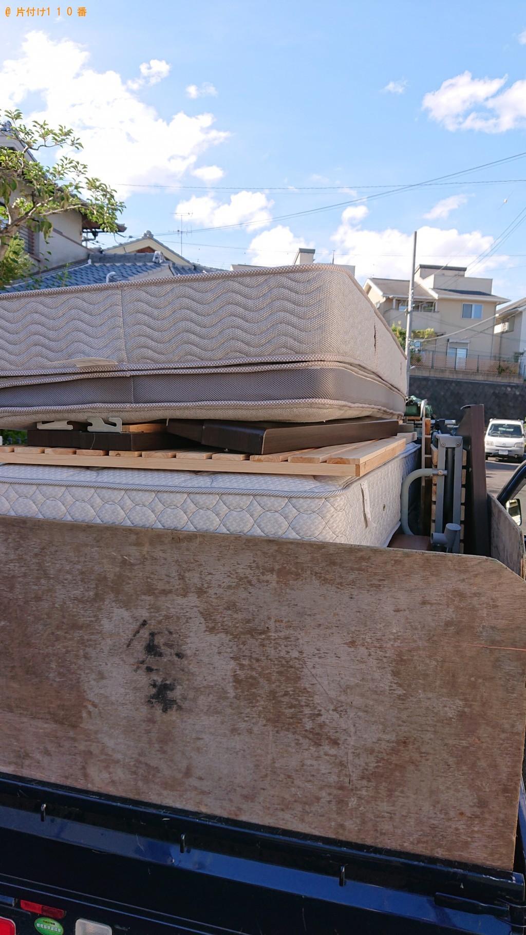 【奈良市】シングルベッド、シングルベッドマットレスの回収・処分