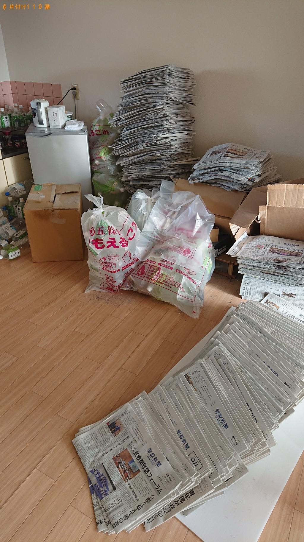 【五條市本町】古新聞・ペットボトル・プラスチックハンガー等の回収