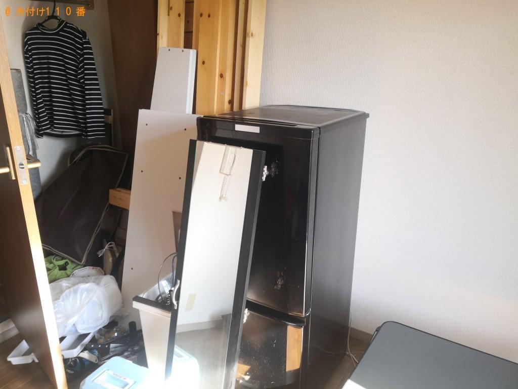 【奈良市】冷蔵庫、解体したシングルベッドの枠、マットレス等の回収