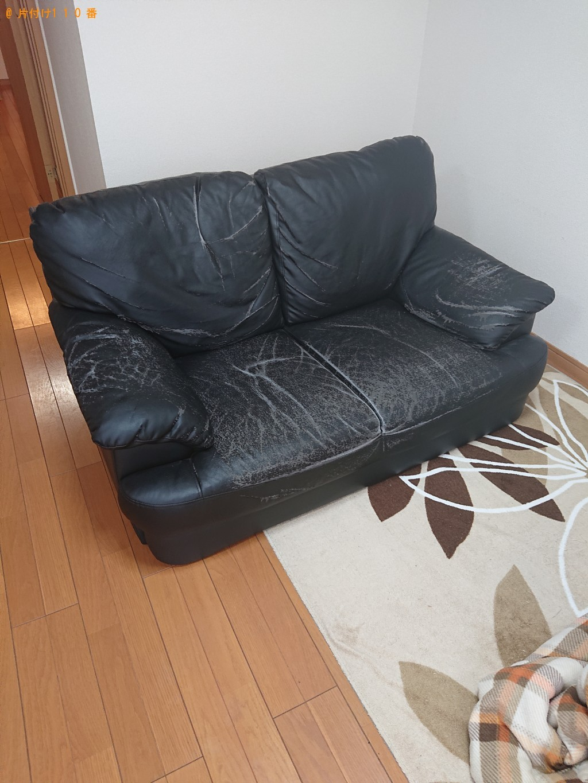 【奈良市】二人掛けソファーの回収・処分ご依頼 お客様の声