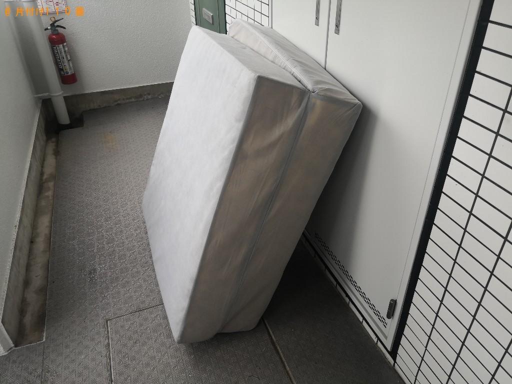 【奈良市鶴舞西町】シングルベッドマットレスの回収・処分ご依頼