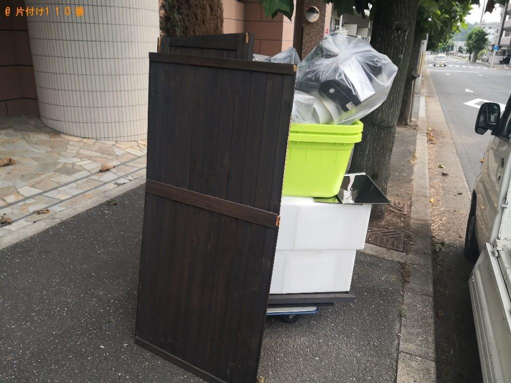 【奈良市佐保台西町】戸棚、土砂、ポリバケツ、ゴミ箱の回収・処分