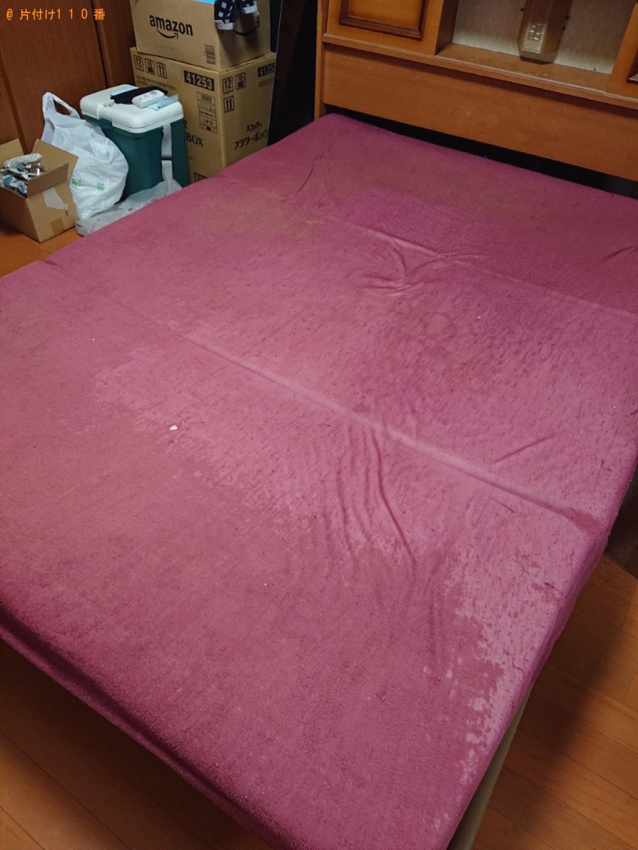 【橿原市曲川町】ダブルベッド、ベッドマットレス等の回収