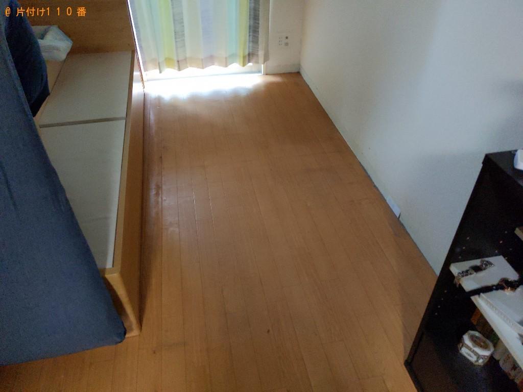 【奈良市西大寺新町】シングルベッド、ベッドマットレスの回収・処分