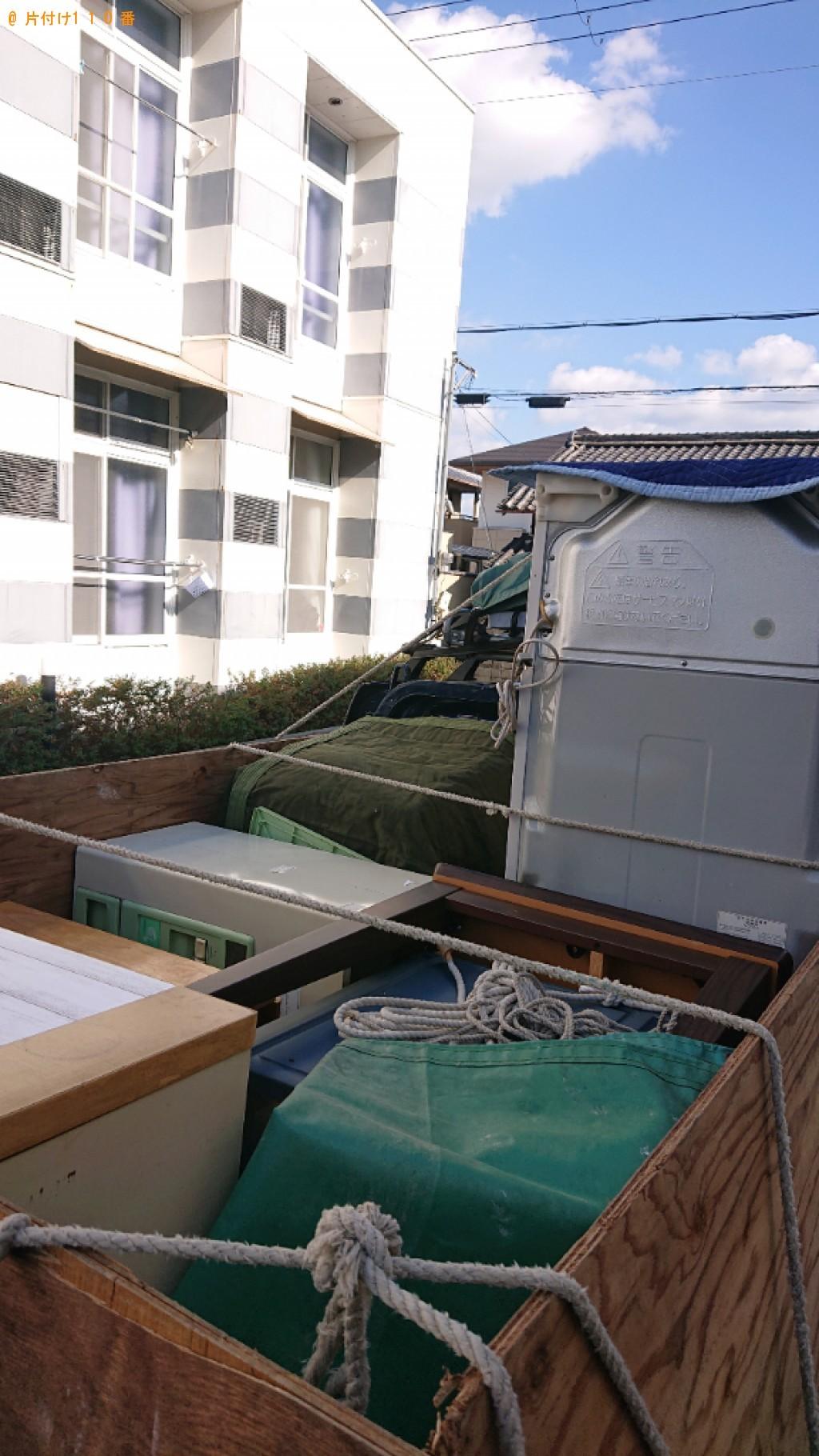 【大和郡山市】冷蔵庫、洗濯機、こたつ、タンス、食器棚の回収・処分