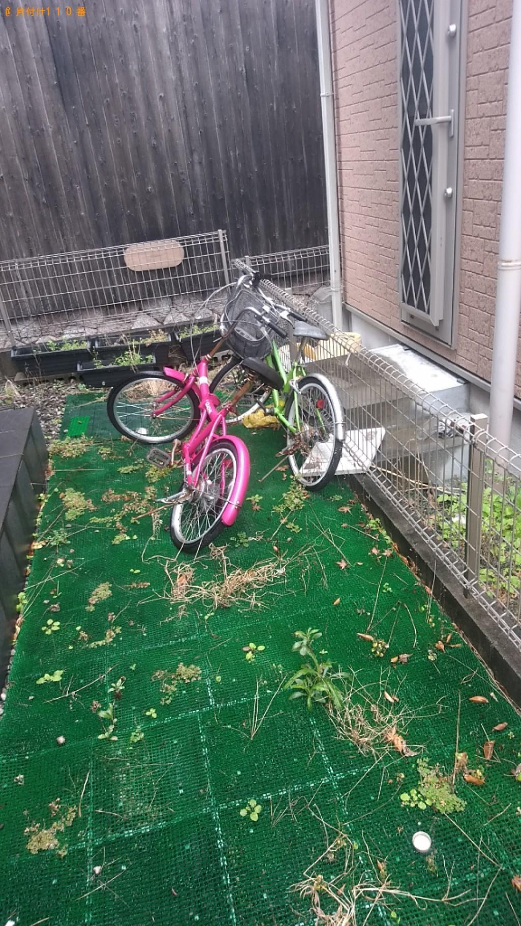【橿原市中町】四人用ダイニングテーブル、自転車の回収・処分ご依頼