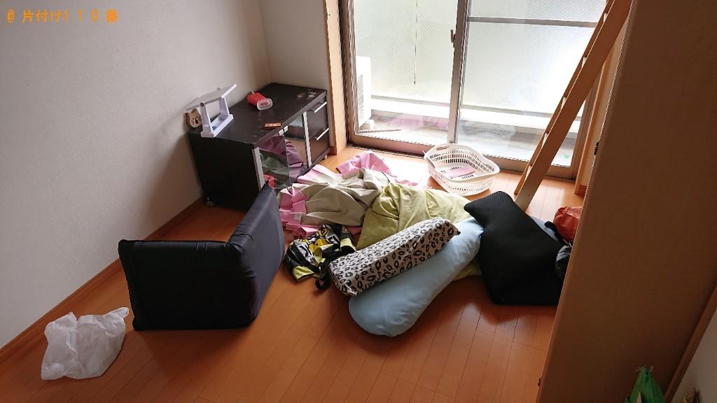 【生駒郡斑鳩町】冷蔵庫、洗濯機、テレビ台、クッション等の回収