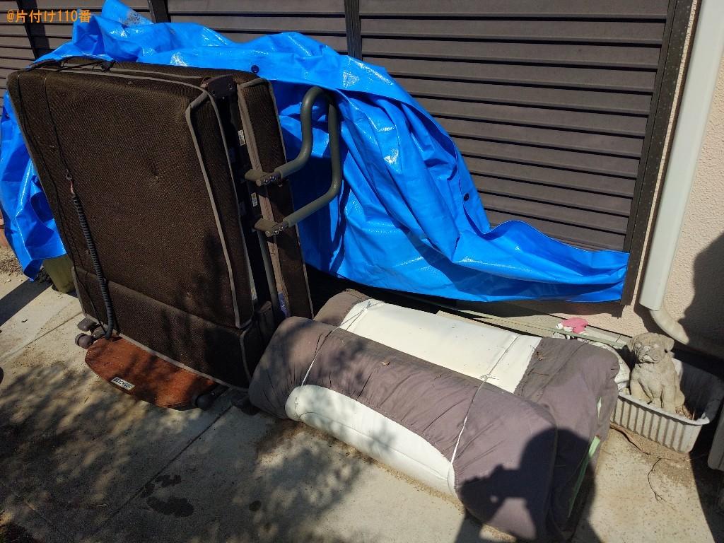【奈良市】マットレス付きシングルベッド、布団、一般ごみの回収