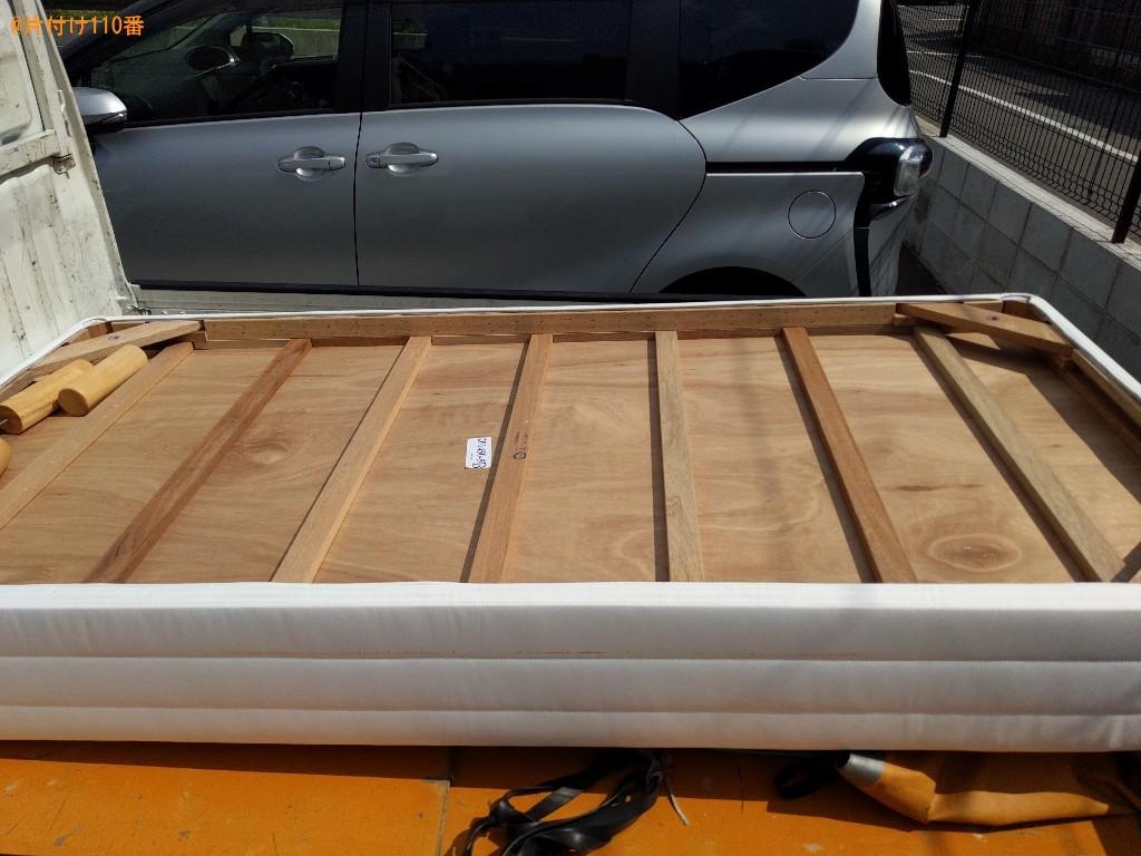 【奈良市餅飯殿町】マットレス付きシングルベッドの回収・処分ご依頼